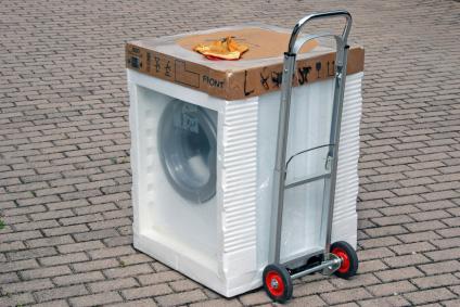 Ny tvättmaskin klar för installation