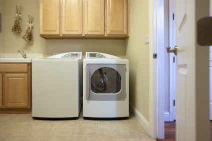 Liten toppmatad tvättmaskin